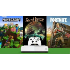 Xbox One S 1TB All-Digital Edition console Xbox Wireless Controller Minecraft Sea of Thieves Fortnite Battle Royale